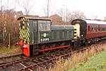 os shunter D2595 returns with the train at the Ribble Steam Railway